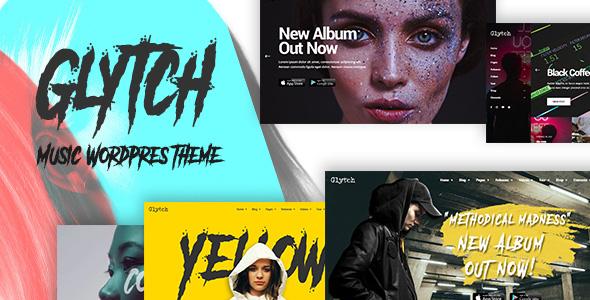 Glytch - A Vibrant Music WordPress Theme