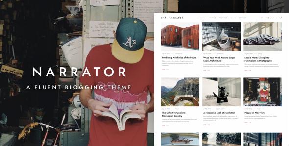 Narrator - WordPress Blogging Theme