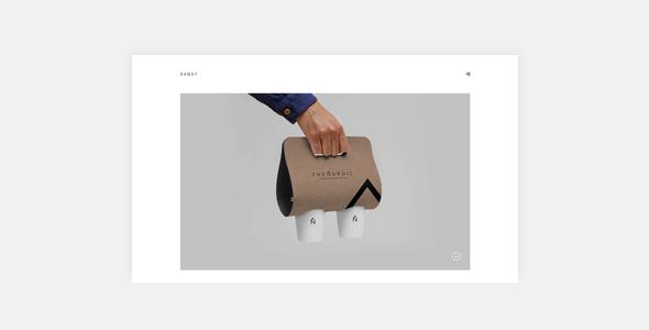 Sandy - Minimal Portfolio WP Theme